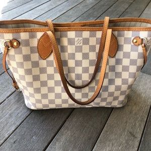 Louis Vuitton Neverfull PM Azure tote